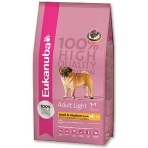 Eukanuba Adult Small & Medium Light / Weight Control 15 kg