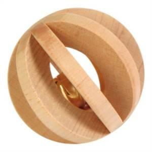 Lamelový míček dřevěný s rolničkou