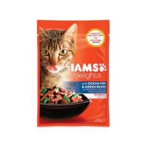 Kapsička Cat delights ocean fish & green beans in gravy