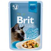 Brit / Brit Premium kapsička Cat Delicate Fillets in Gravy with Chicken