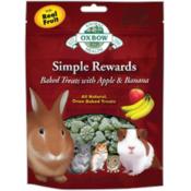 Oxbow / Simple Rewards pečené pamlsky s jablkem a banánem