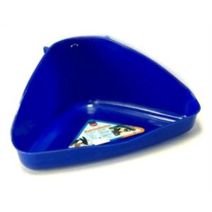 Rohová toaleta modrá