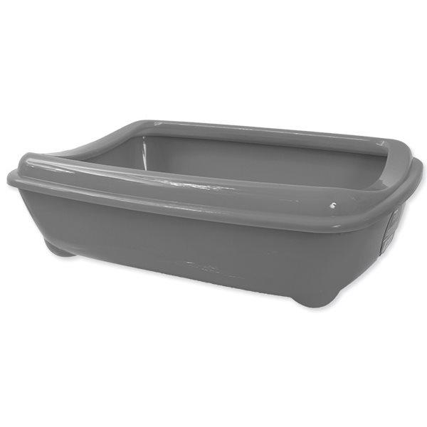 Toaleta MC Economy s okrajem šedá