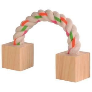 Bavlněný most s dřevěnými kostkami