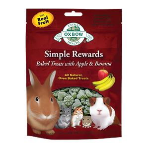Simple Rewards pečené pamlsky s jablkem a banánem
