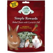 Oxbow / Simple Rewards pečené pamlsky s mrkví a koprem