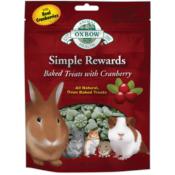 Oxbow / Simple Rewards pečené pamlsky s brusinkami