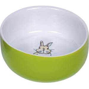 Rabbit keramická miska zelená