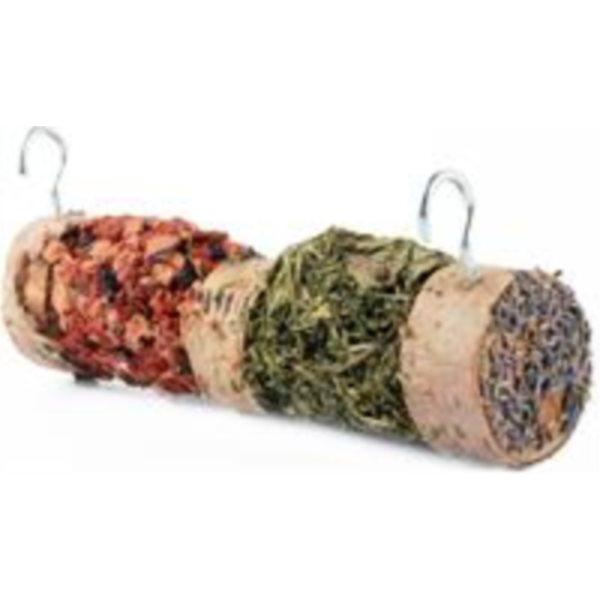 Březové krmítko se semínky a zeleninou