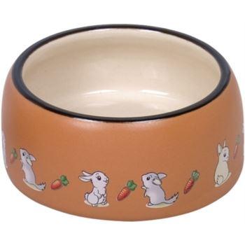 Nobby / Rabbit keramická miska hnědo-bílá