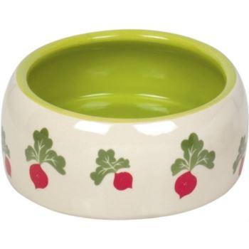 Nobby / Radish keramická miska zeleno-bílá