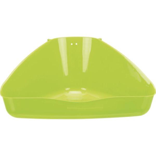 Rohová toaleta zelená